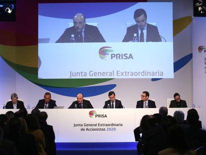 Junta General Extraordinaria de Accionistas de PRISA, celebrada el 29 de enero de 2020.