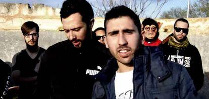 El rapero Valtonyc en un fotograma de un vídeo de su canal de Youtube.