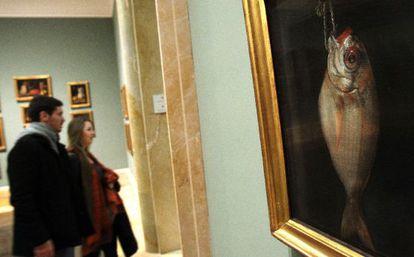 """<a href=""""http://politica.elpais.com/politica/2013/02/28/album/1362085972_924863.html""""><b>LA FOTOGALERÍA DE LAS OBRAS DE BÁRCENAS.</b></a> La obra 'Besugo', de Bartolomé Montalvo, fotografiada ayer en el Museo del Prado."""