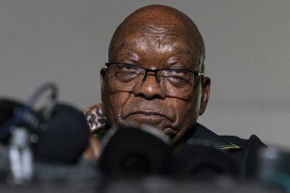 El expresidente sudafricano Jacob Zuma, en una rueda de prensa el pasado domingo.