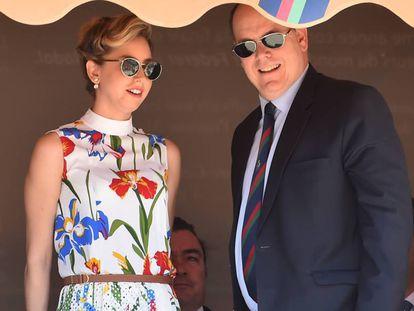 Jazmin Grace Grimaldi y Alberto de Mónaco, en Montecarlo.