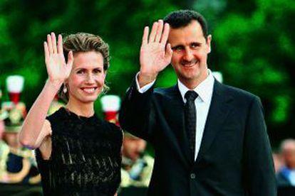 El presidente de Siria y su esposa, en París en 2008.