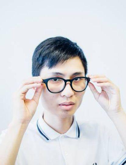 El chino Jason Gui con sus gafas inteligentes.