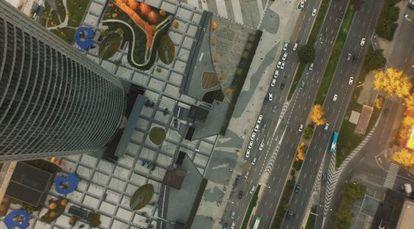 Fotograma del vídeo grabado desde un dron.