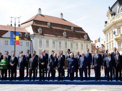 Foto de familia tras la cumbre de Sibiu, el pasado 9 de mayo.