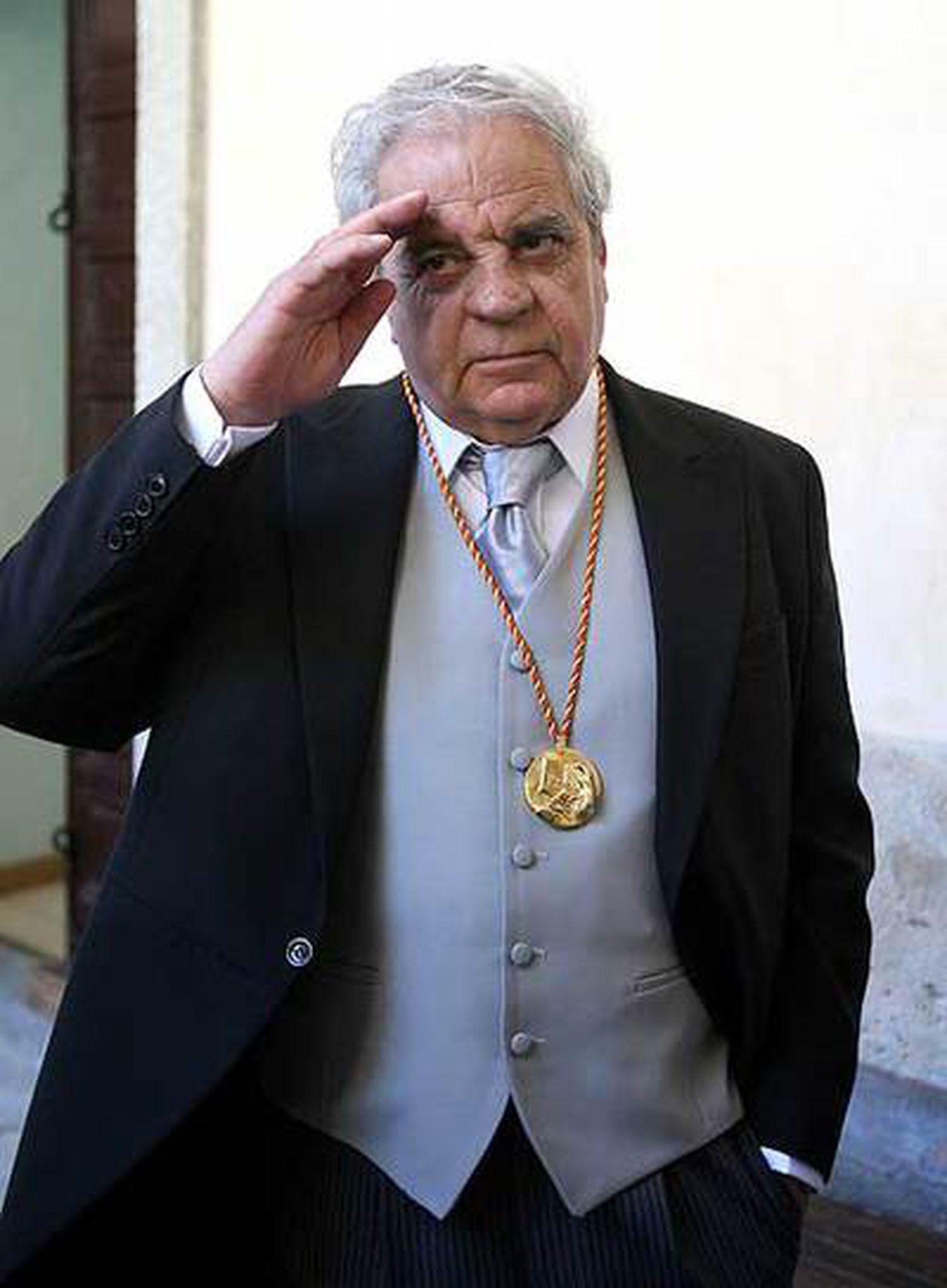 Juan Marsé, ayer en Alcalá de Henares.