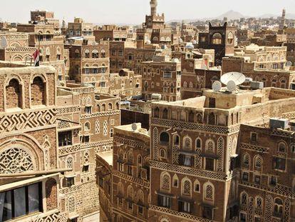 Saná (Yemen), ciudad declarada patrimonio de la humanidad por la Unesco.