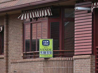 Una vivienda a la venta en Madrid, en una imagen de archivo.