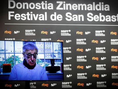 Woody Allen, en la presentación telemática de su película 'Rifkin's Festival' en el Festival de San Sebastián el pasado 18 de septiembre.