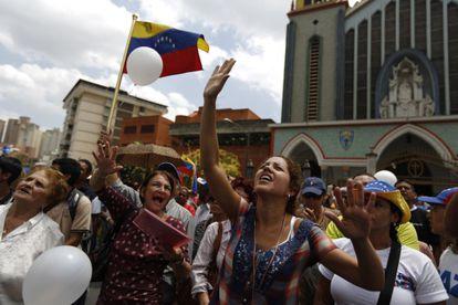 Protestas contra el gobierno de Maduro en Caracas
