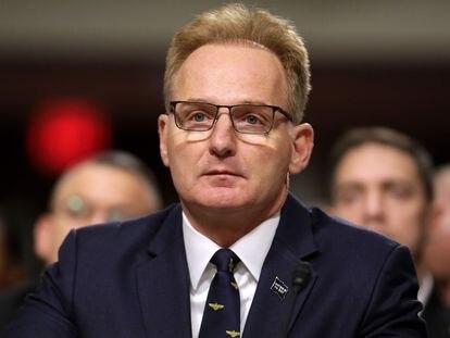 El exsecretario de la Marina de EE UU, Thomas Modly, en el Congreso el pasado diciembre.
