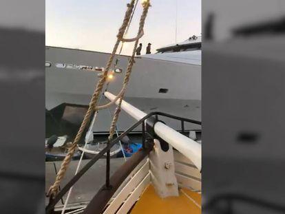 Vídeo grabado por uno de los comensales que se encontraba en el restaurante flotante en el momento del accidente.