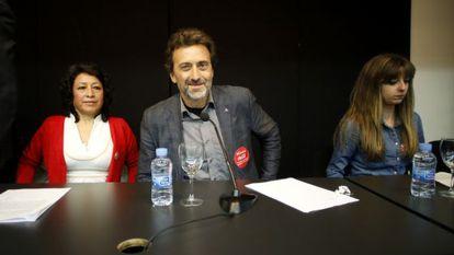 Valiente, en la presentación de su candidatura a las primarias de Ahora Madrid.