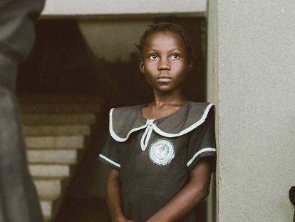 Alumnas en un colegio de Liberia.