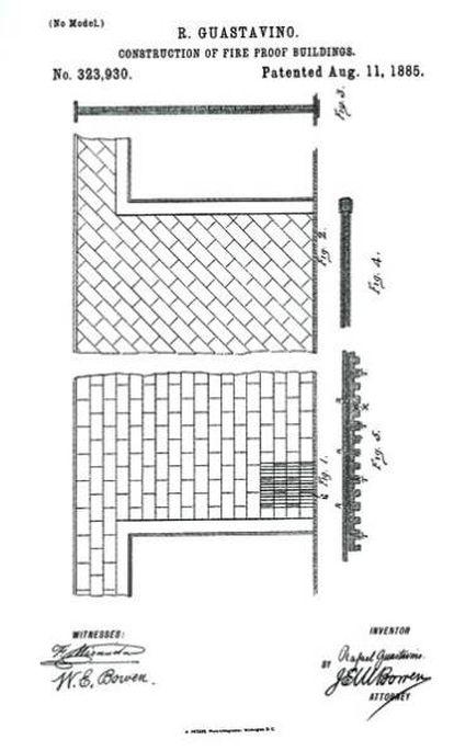 Patente del sistema de azulejos de Guastavino (1885). |