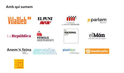 First list of sponsors of the Puigdemont identification system, where Plusfresc appeared.