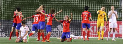 Corea celebra su pase a octavos tras eliminar a España.