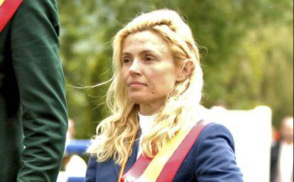 Susana García-Cereceda, en un campeonato de saltos en 2007.