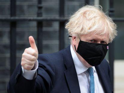 Boris Johnson, este miércoles, sale de Downing Street