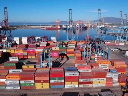 El puerto de Manzanillo, una de las 49 aduanas ubicadas en México.