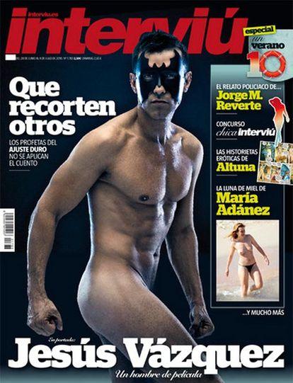 Jesús Vázquez, en la portada de 'Interviú'.