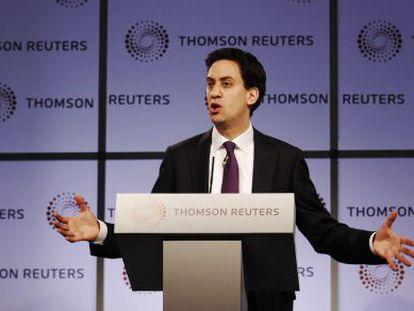El líder del partido laborista, David Miliband.