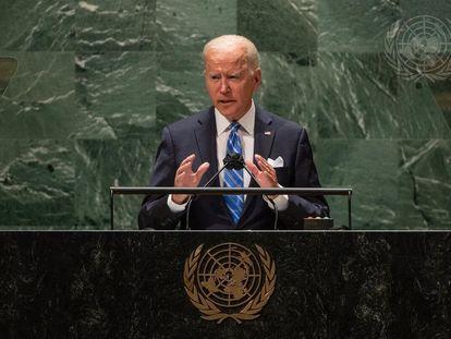 El presidente de Estados Unidos, Joe Biden, en la Asamblea General de la ONU.