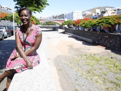 Chantal Djedjé, en una pausa del Festival MAPAS, en Santa Cruz de Tenerife.
