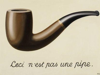 'Ceci n'est pas une pipe', René Magritte ('La trahison des images', 1928-1929).