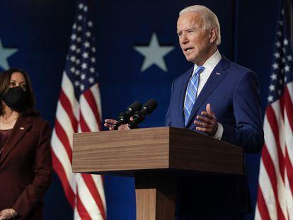 Joe Biden, durante su comparecencia del miércoles en Wilmington (Delaware).