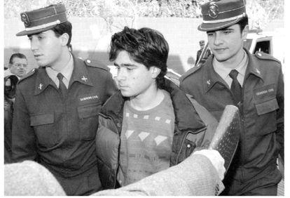 Andrés Rabadán Escobar, detenido por la Guardia Civil, el 8 de febrero de 1994.