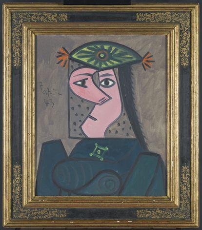 'Buste de Femme 43', obra realizada por Pablo Picasso en 1943.