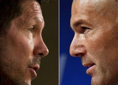 Simeone y Zidane se enfrentan esta noche en el derbi de la Champions League