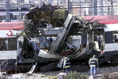 En la imagen, un vagón de cercanías en la estación de Atocha.