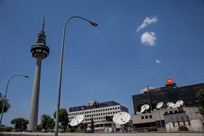 Sede de los informativos de TVE en Torrespaña, Madrid.
