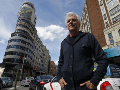 Kiko Veneno, retratado hace 10 días en la madrileña plaza del Callao.