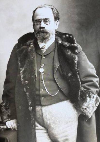 El escritor Émile Zola, en 1895.