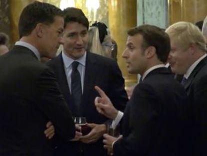 Las cámaras del palacio de Buckingham graban una conversación entre Trudeau, Macron, Rutte y Johnson en la que critican las comparecencias del presidente