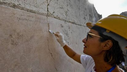 Inscripción que ha permitido volver a datar la destrucción de Pompeya.