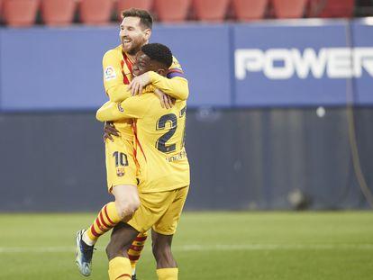 Ilaix agradece a Messi el pase tras su estreno como goleador ante Osasuna.