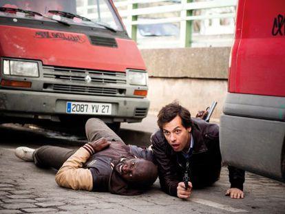 Omar Sy y Laurent Lafitte, en 'Incompatibles'.