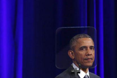 Barack Obama en una ceremonia en Washington el 27 de febrero.