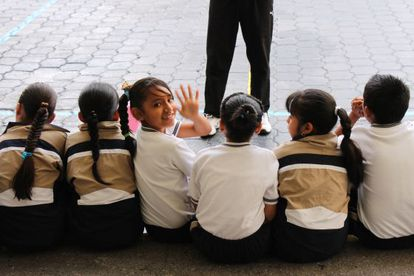 Alumnos en la escuela Christel House en México.