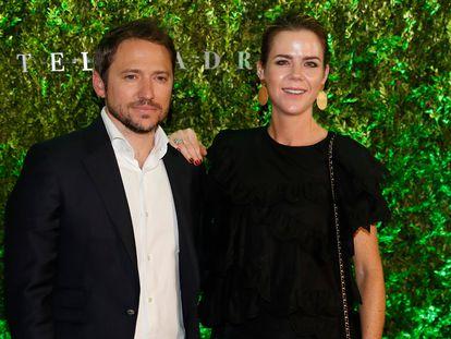 Amelia Bono y Manuel Martos en un acto en Madrid en mayo de 2019.