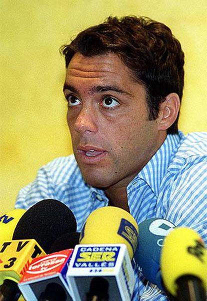 Pier en su presentación como jugador del Terrasa.