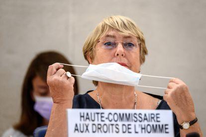 Michelle Bachelet presenta el informe sobre Venezuela, este lunes.