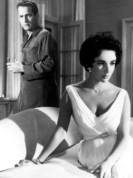 Paul Newman y Elizabeth Taylor en <i>La gata sobre el tejado de zinc,</i> de Richard Brooks.