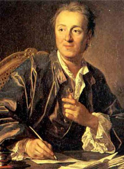 Retrato de Denis Diderot (1767), de Louis Michel van Loo.