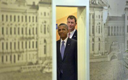 El presidene Obama en las reuniones del G20 en San Petersburgo, Rusia.