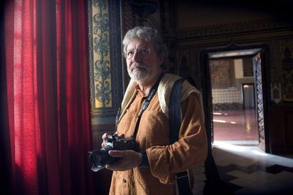 El fotógrafo Toni Catany en el Palau Ducal de Gandía en 2006.
